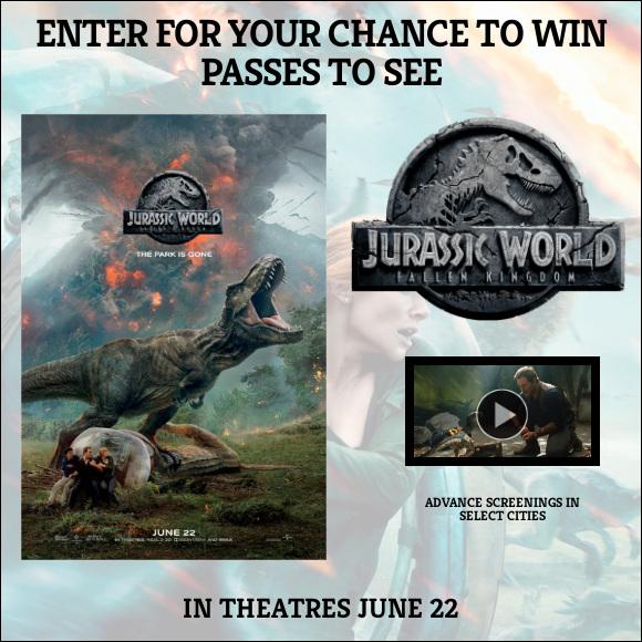 Jurassic World Fallen Kingdom Pass contest