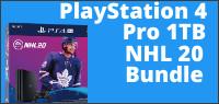 PlayStation 4 Pro 1TB NHL 20 Bundle contest