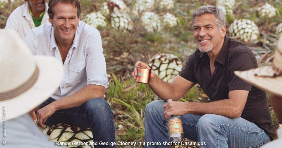 Rande Gerber and George Clooney