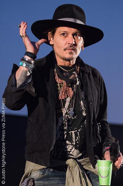 Johnny Depp at Glastonbury