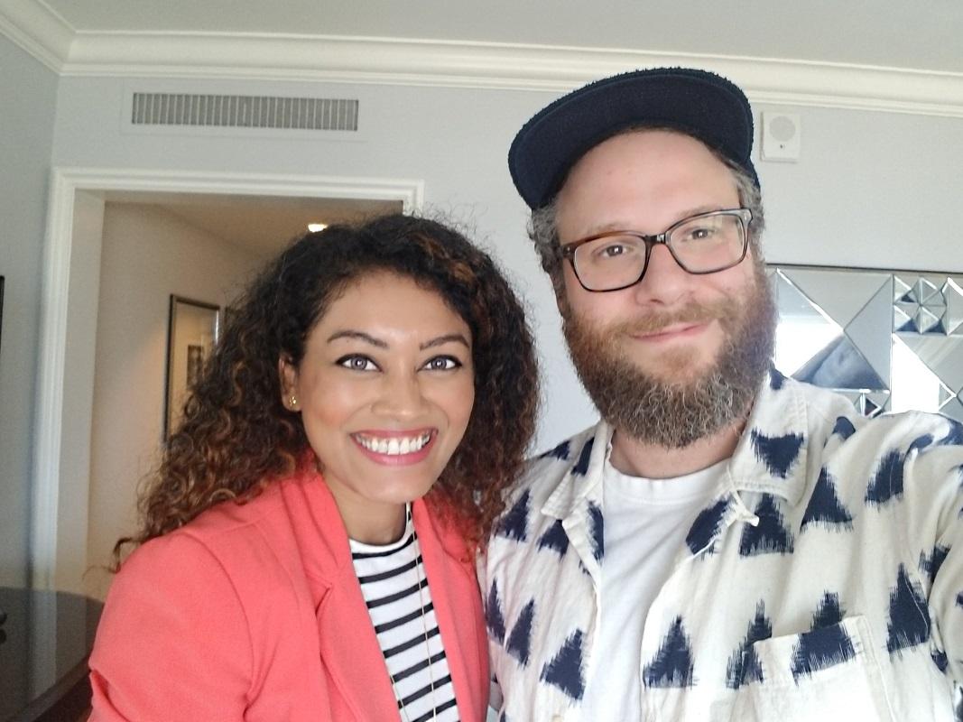 Marriska Fernandes and Seth Rogen