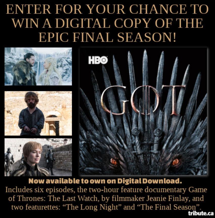 Game of Thrones digital contest